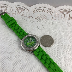 Accutime Watch Co Accessories - Frogs can Like Diamonds Silicone Band & Crystals
